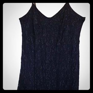 Black lace slip dress. Venezia Jean Co